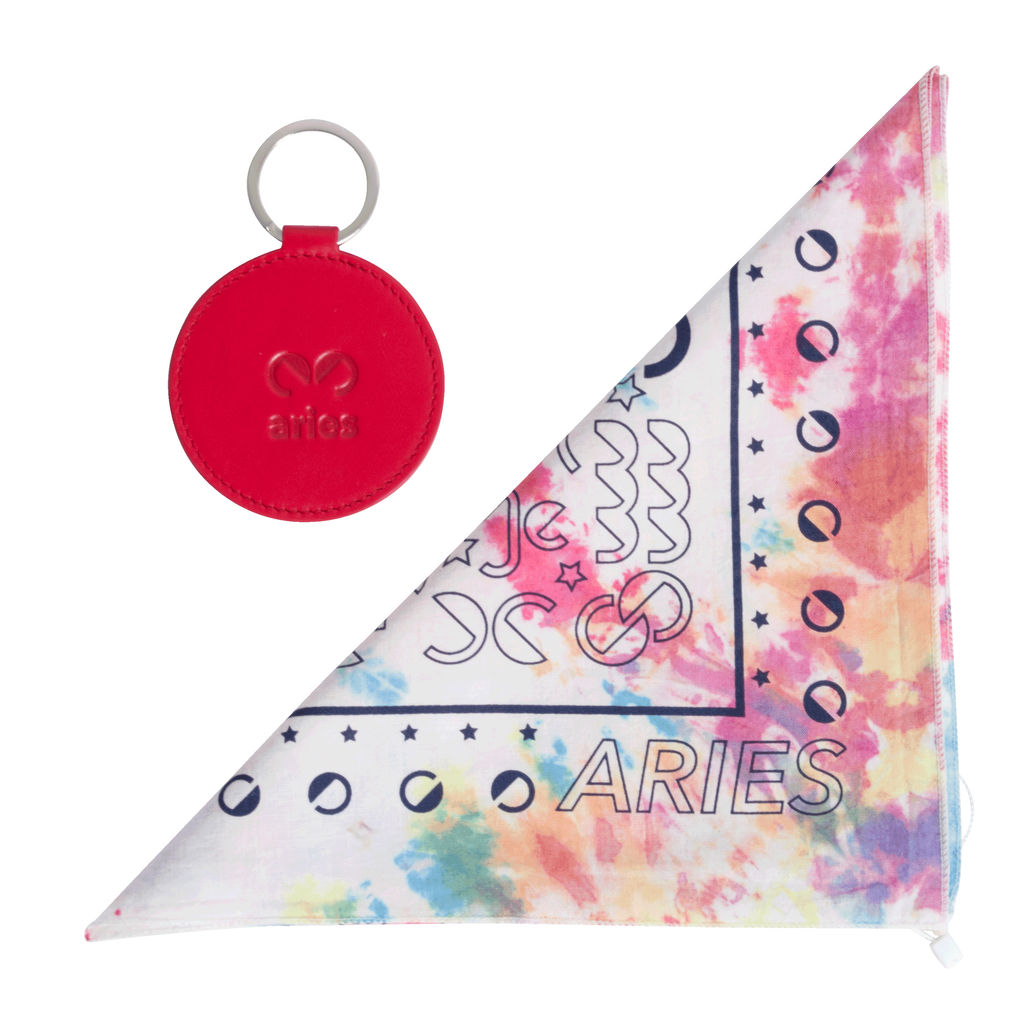 DOOZ Aries Bandana + Keychain Set in Tie Dye