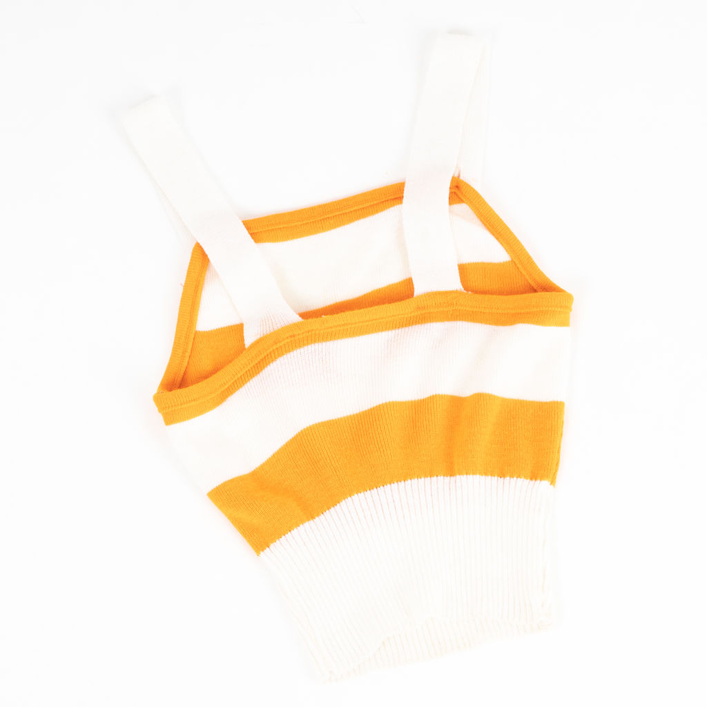 Vintage Name Droppers Creamsicle Striped Top
