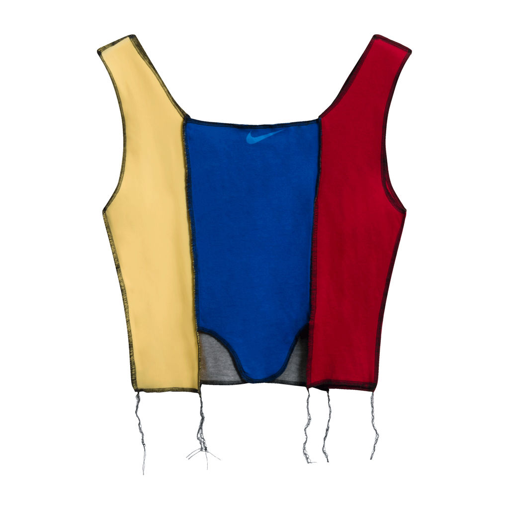JJVintage Reworked Nike Tank in Blue/YellowRed