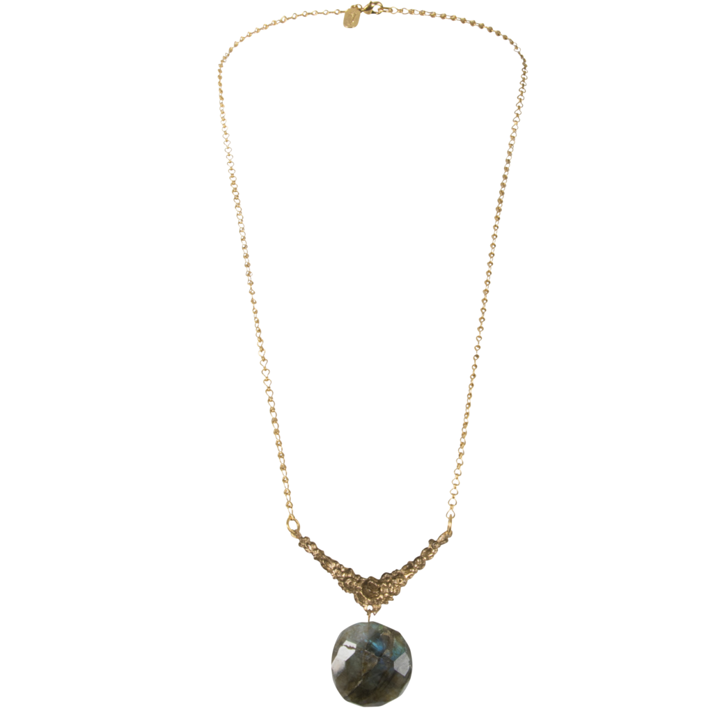 Vintage Necklace with Labradorite Pendant