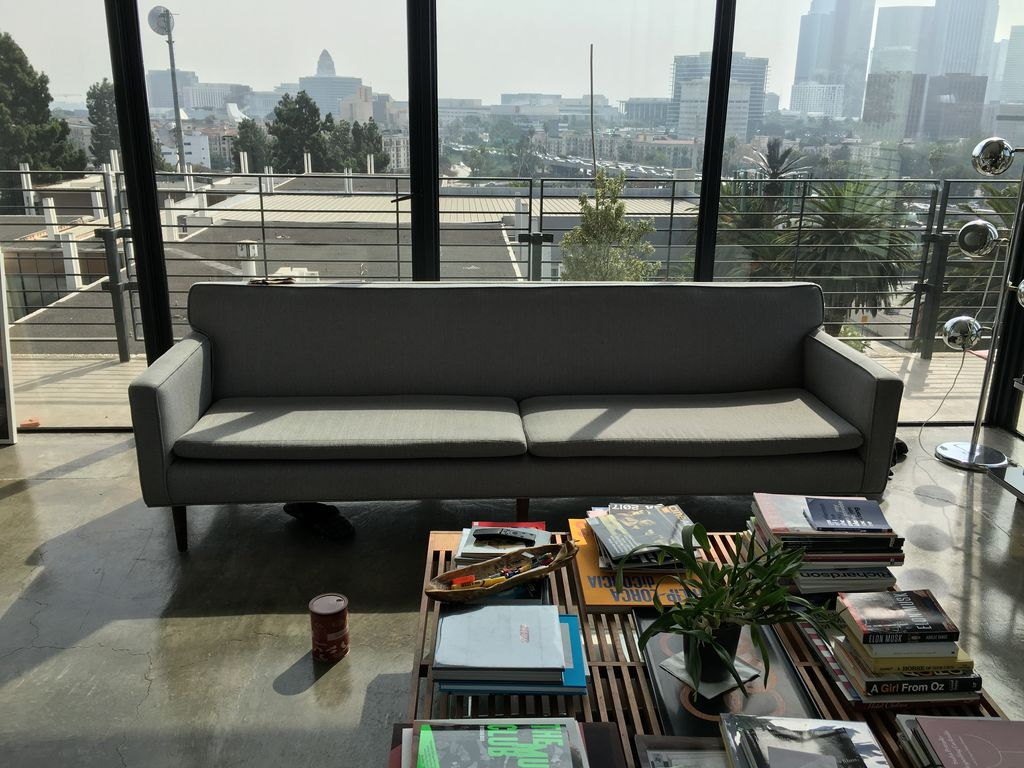 Custom Grey Couch