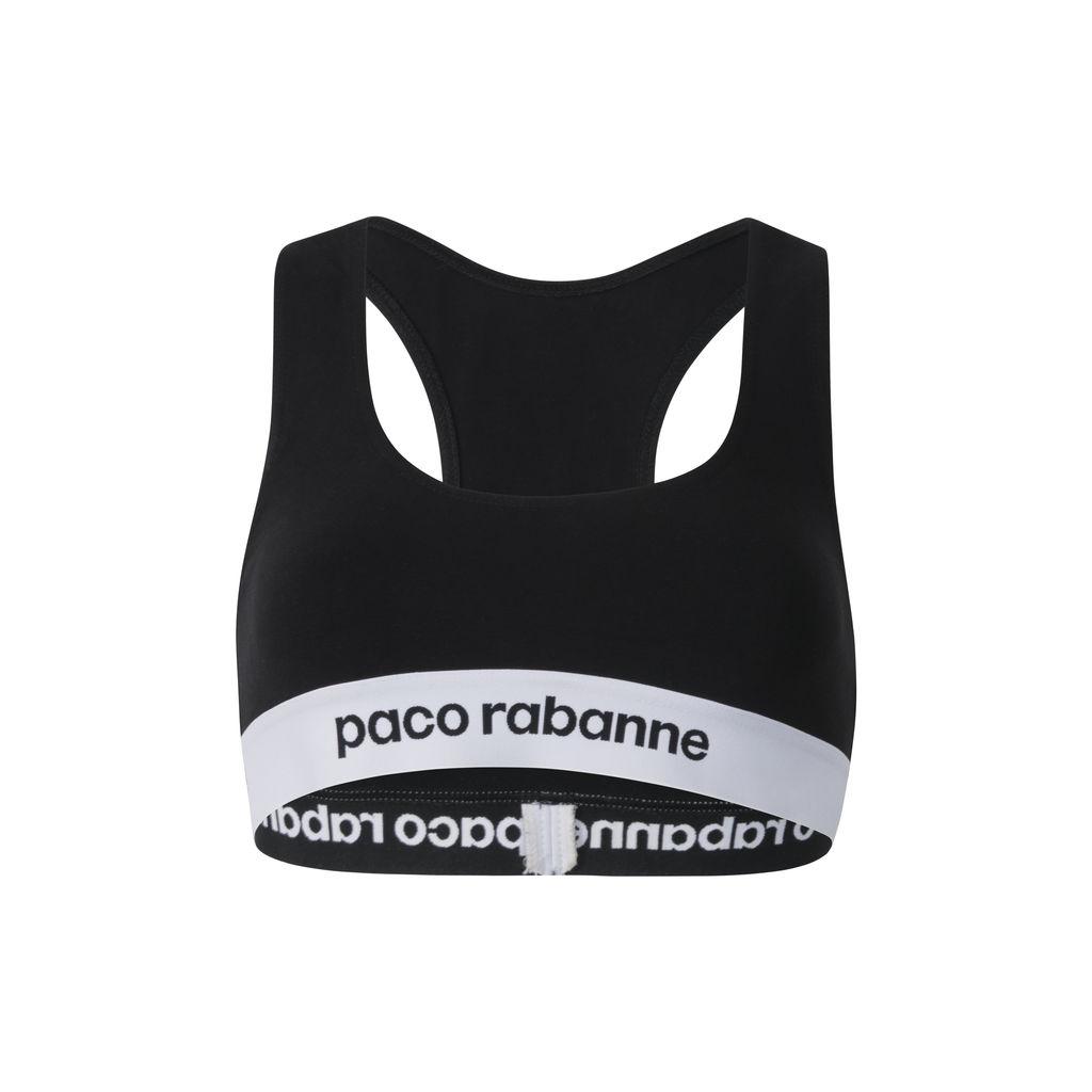 Paco Rabanne Logo Sports Bra