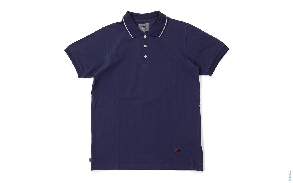 BAPE Ursus Bape Flag Logo Polo Shirt navy
