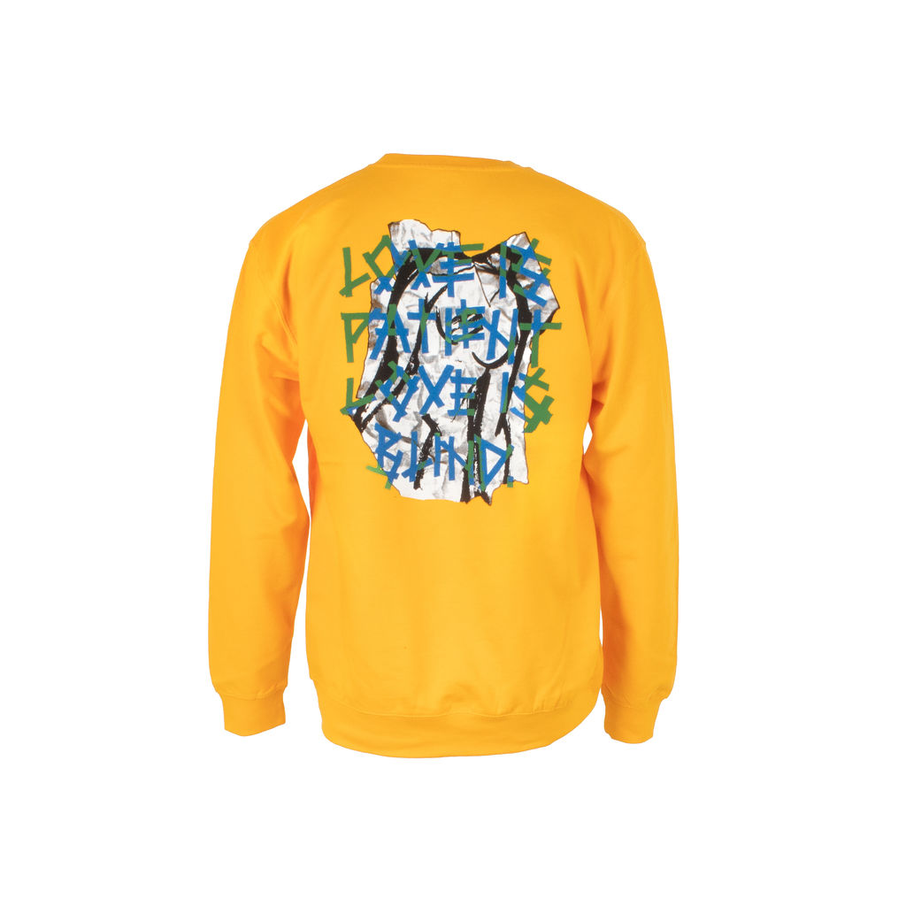 Love is Patient Gold Crewneck