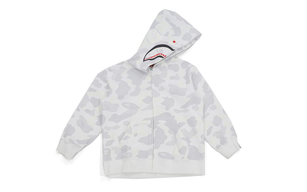 Bape Glow In The Dark City Camo Shark Hoodie