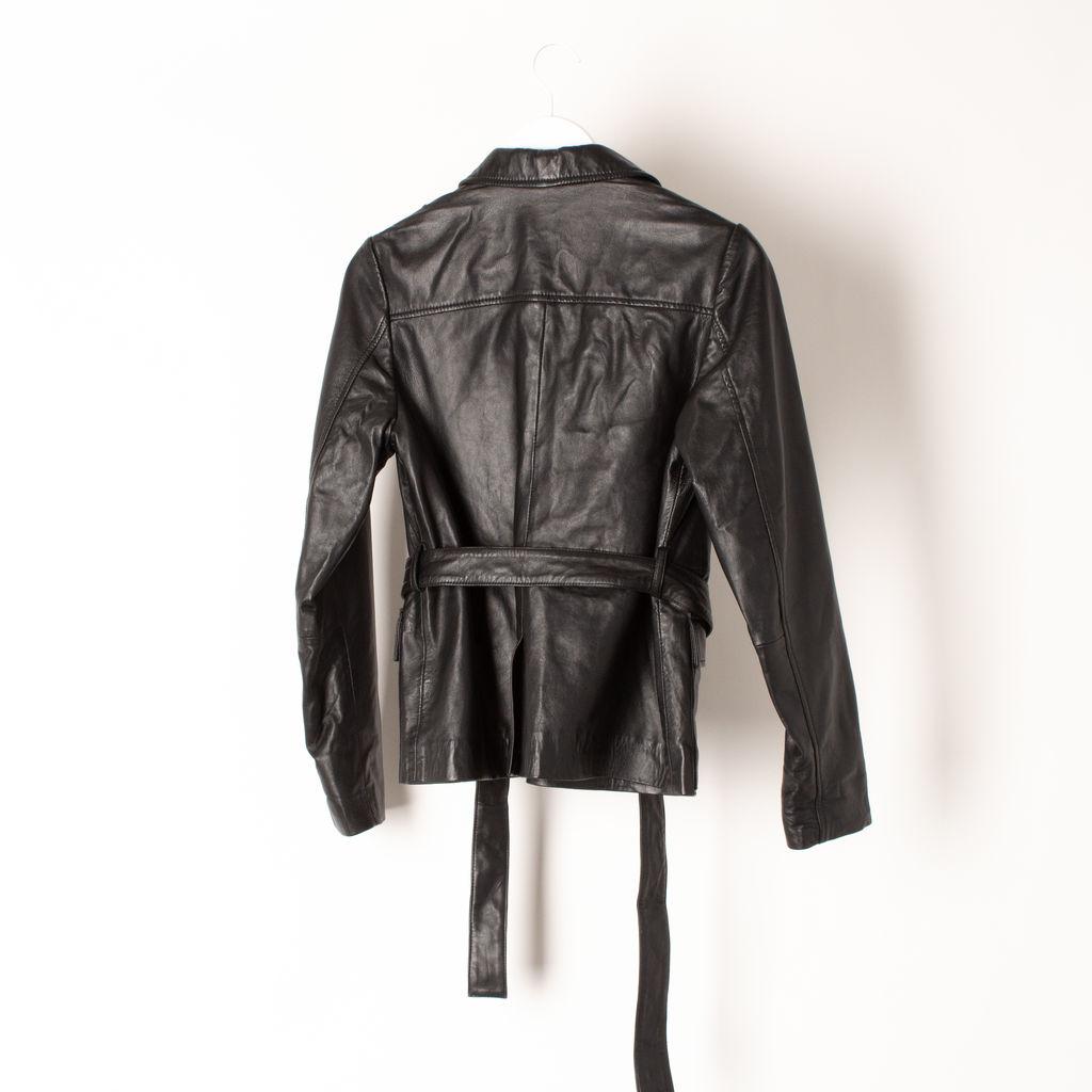 Ganni Wrap Leather Jacket
