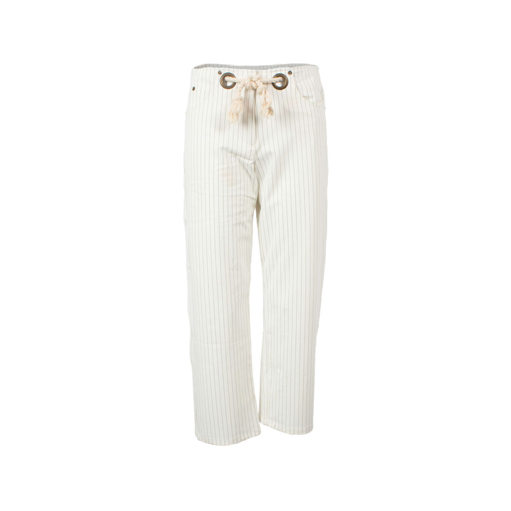 Miaou Tommy Pant in White Pinstripe