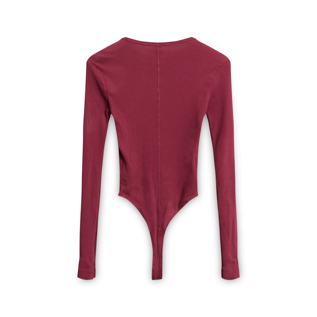 Re/Done x Hanes 60s Slim Long Sleeve Bodysuit