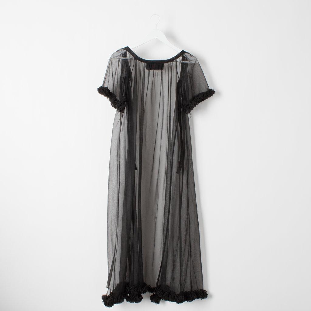 Sami Miro Vintage 80's Cap Sleeve Mesh Nightgown