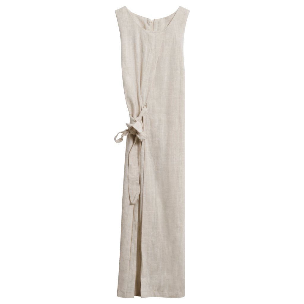Vintage Wheat Linen Jumpsuit
