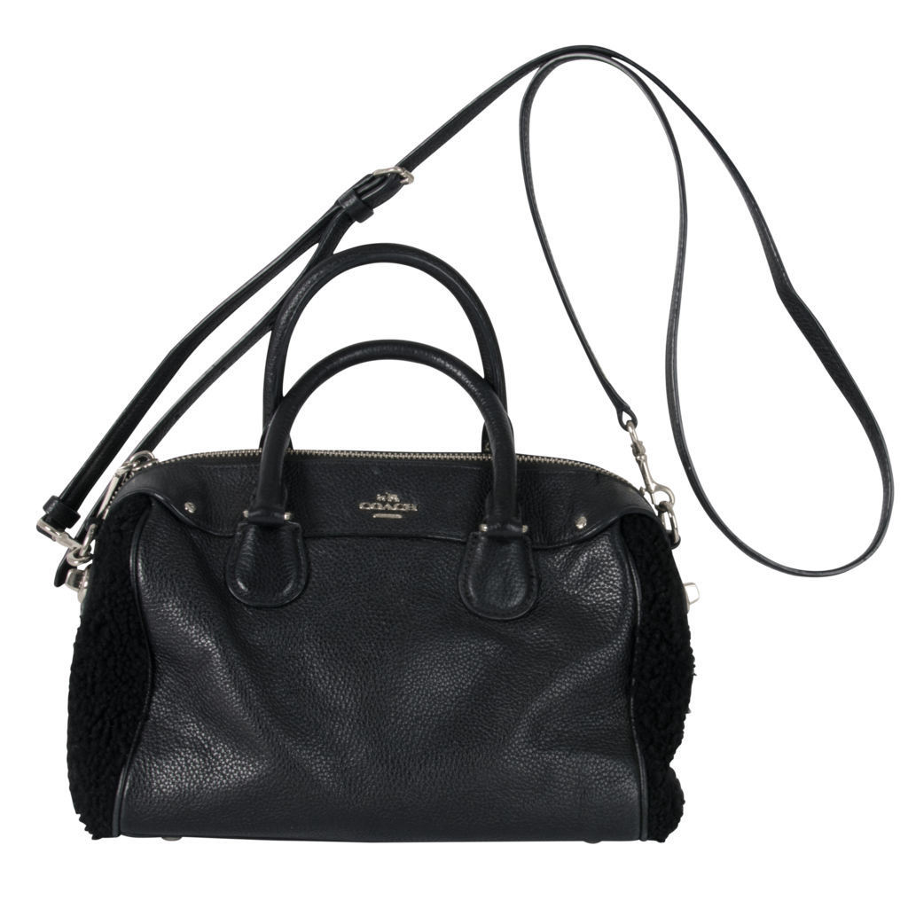 Coach Satchel with Sherpa Detail
