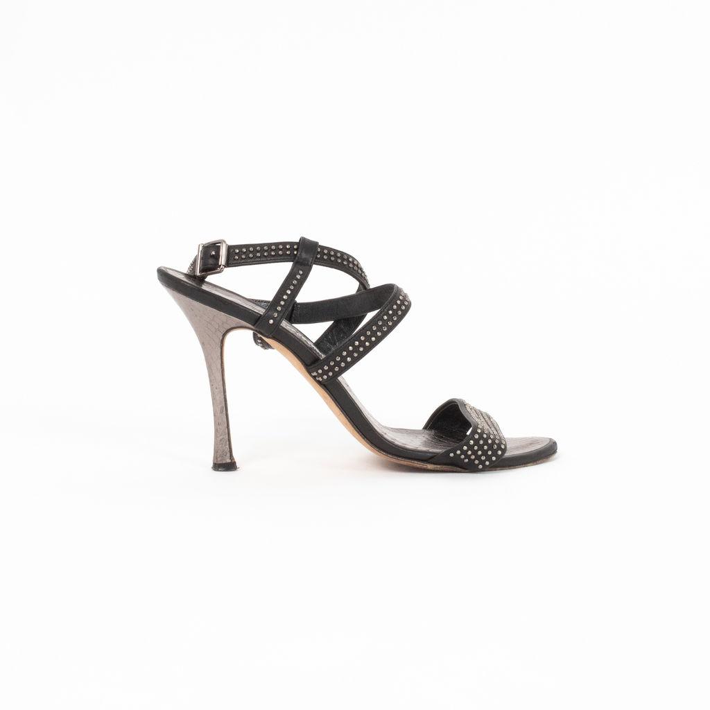 Manolo Blahnik Studded Heeled Sandals