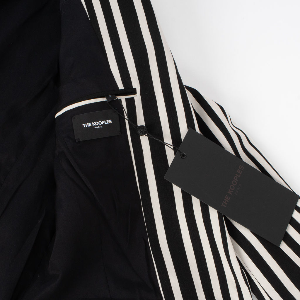 The Kooples Printed Stripes Cotton Blazer