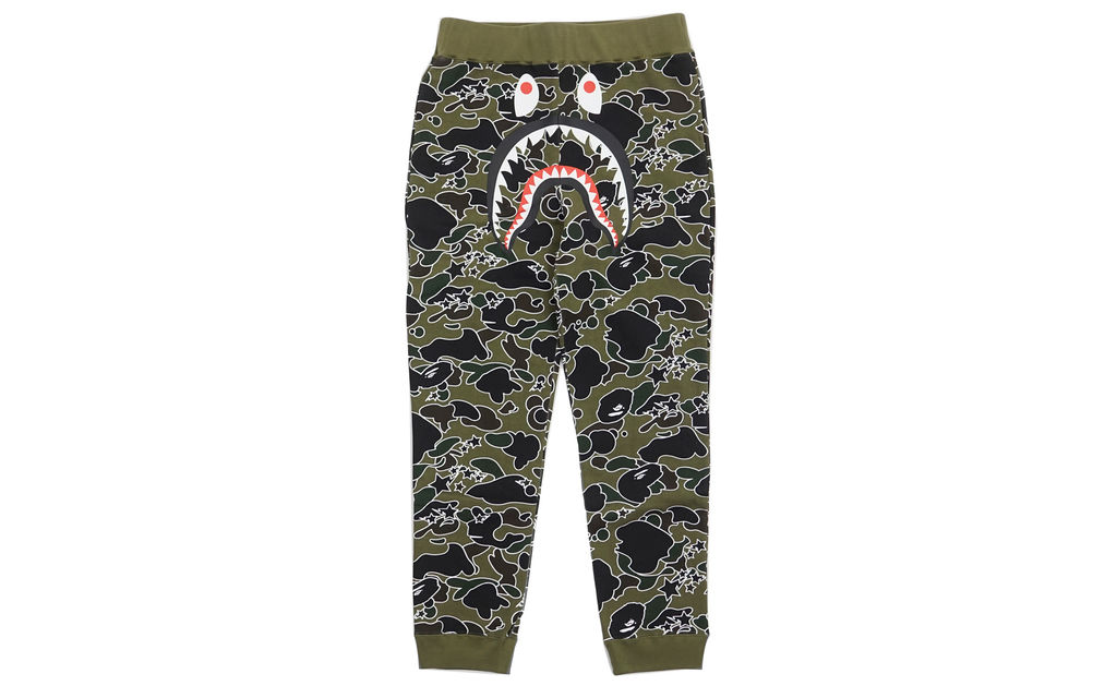 BAPE Psyche Camo Shark Sweatpants