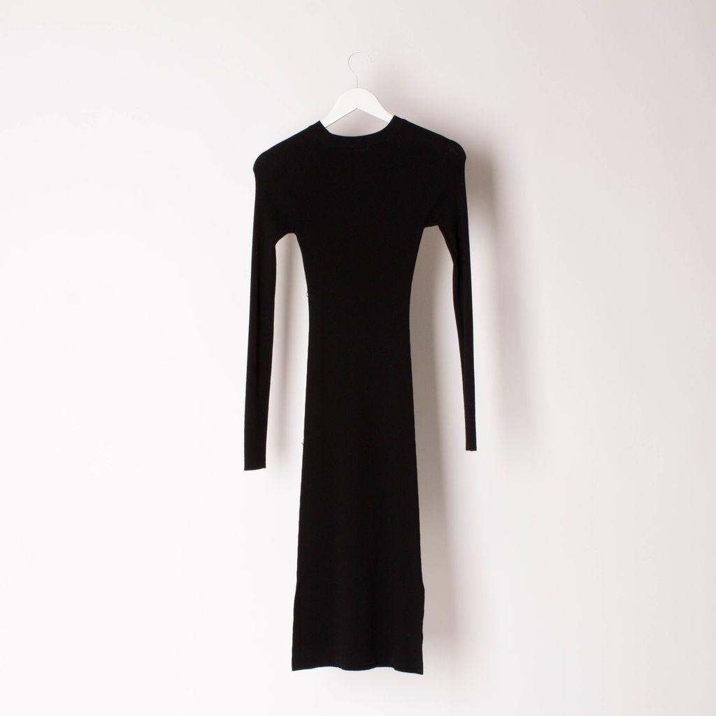 Mugler Embellished Ribbed Stretch-Jersey Dress