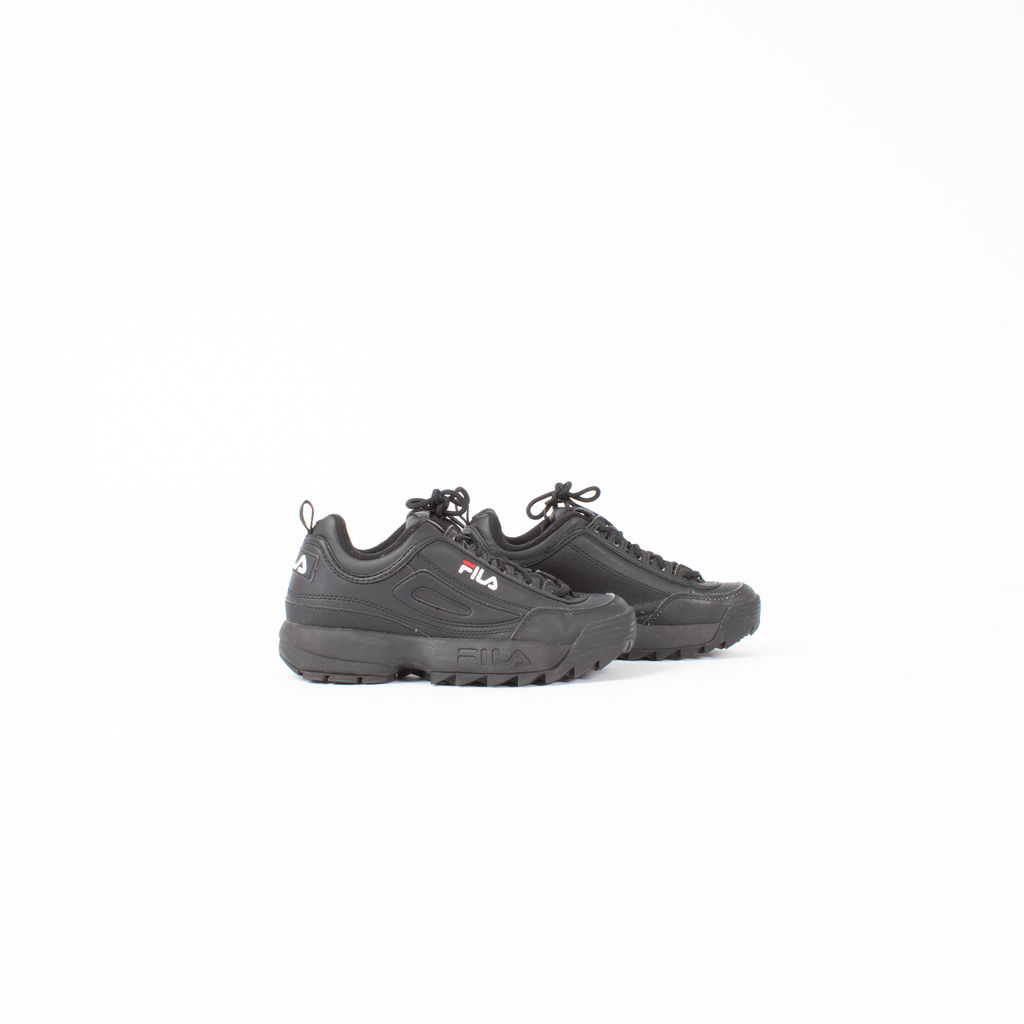 FILA Disruptor II Sneakers in Core Black