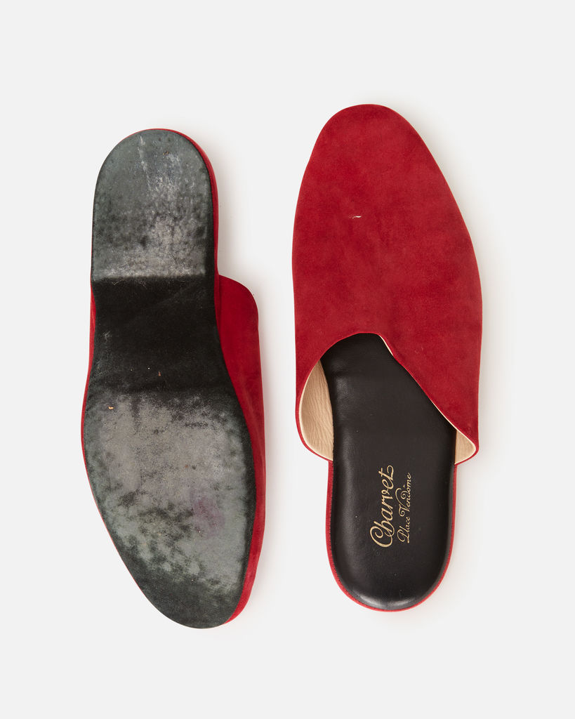Charvet Paris Red Suede Slippers