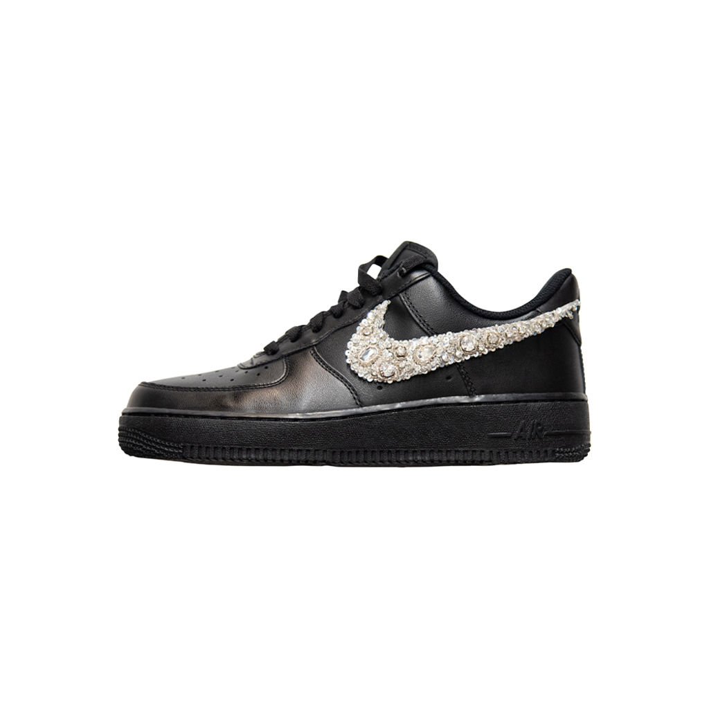 Azeeza x Nike Air Force 1 with White Embellished Swoosh