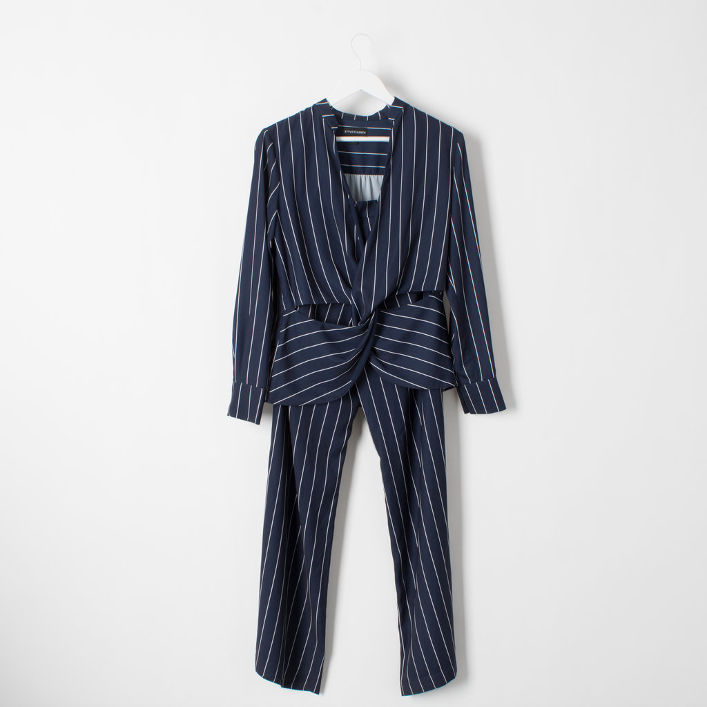 Stylestalker Pinstripe Power Suit curated by Sami Miro