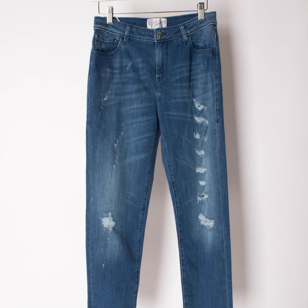 The Seafarer Distressed Skinny Jeans