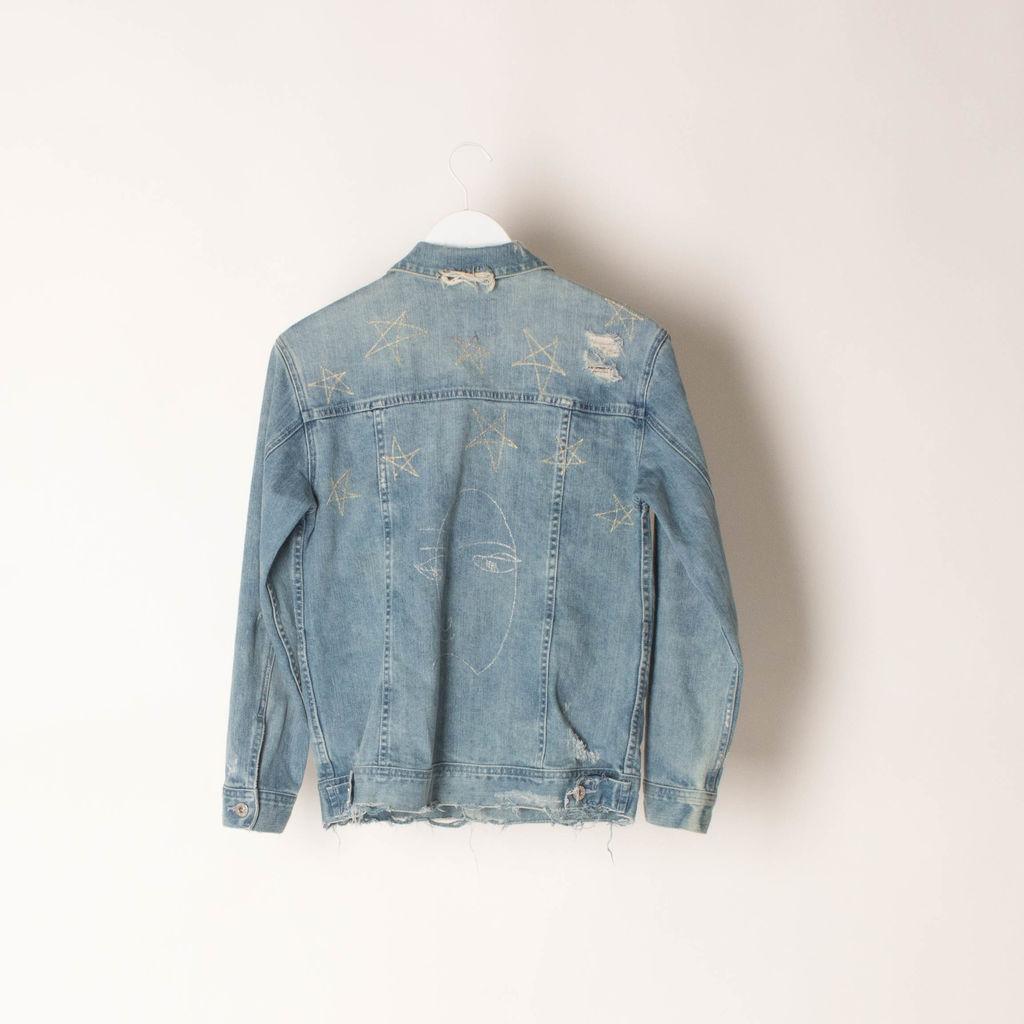 AG Jeans Embroidered Denim Jacket