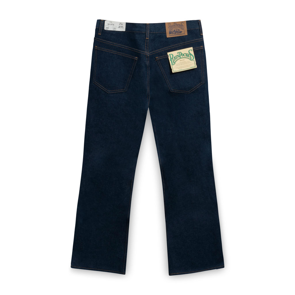 Plain Pockets Raw Boot-cut Jeans