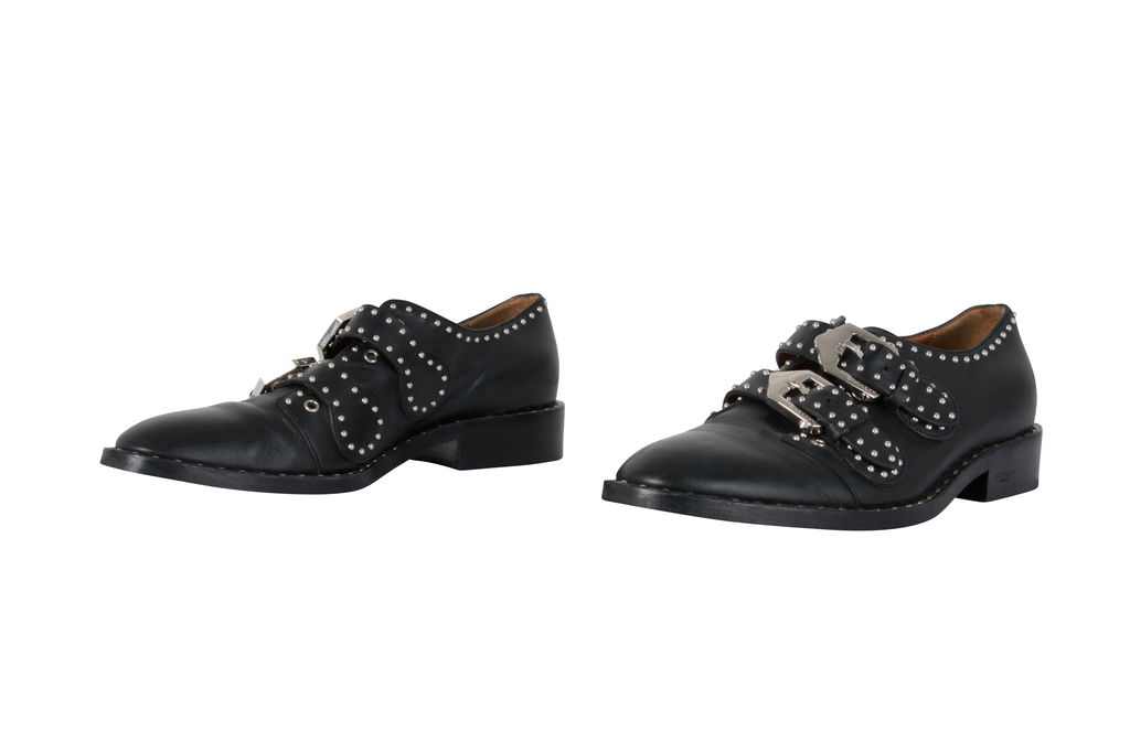 Givenchy Elegant Studded Double Monk Oxford