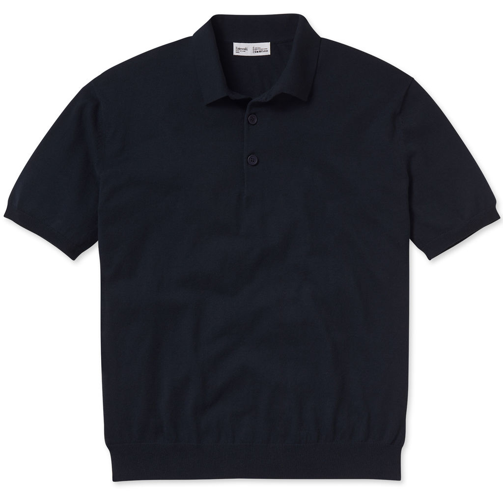 Entireworld Organic Cotton Short Sleeve Polo - Dark Navy