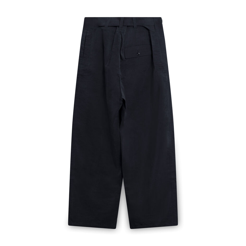 Lemaire High-Waist Trousers with Belt - Black