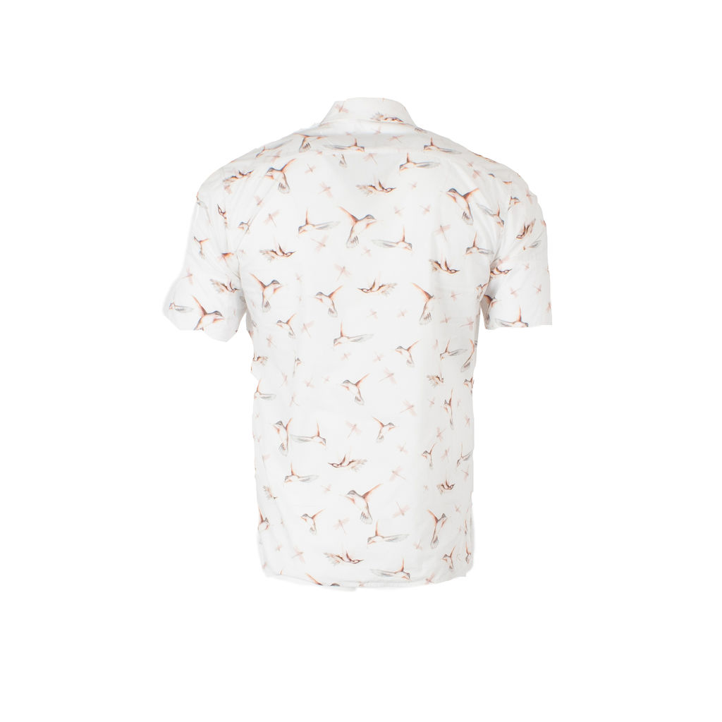 Vivienne Westwood Man All-Over Bird Print Button Up Shirt