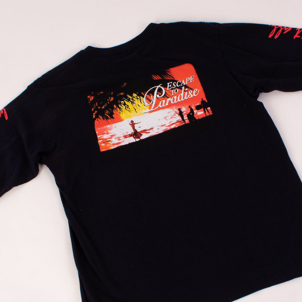 No Vacancy Inn Escape to Paradise Long Sleeve Tee