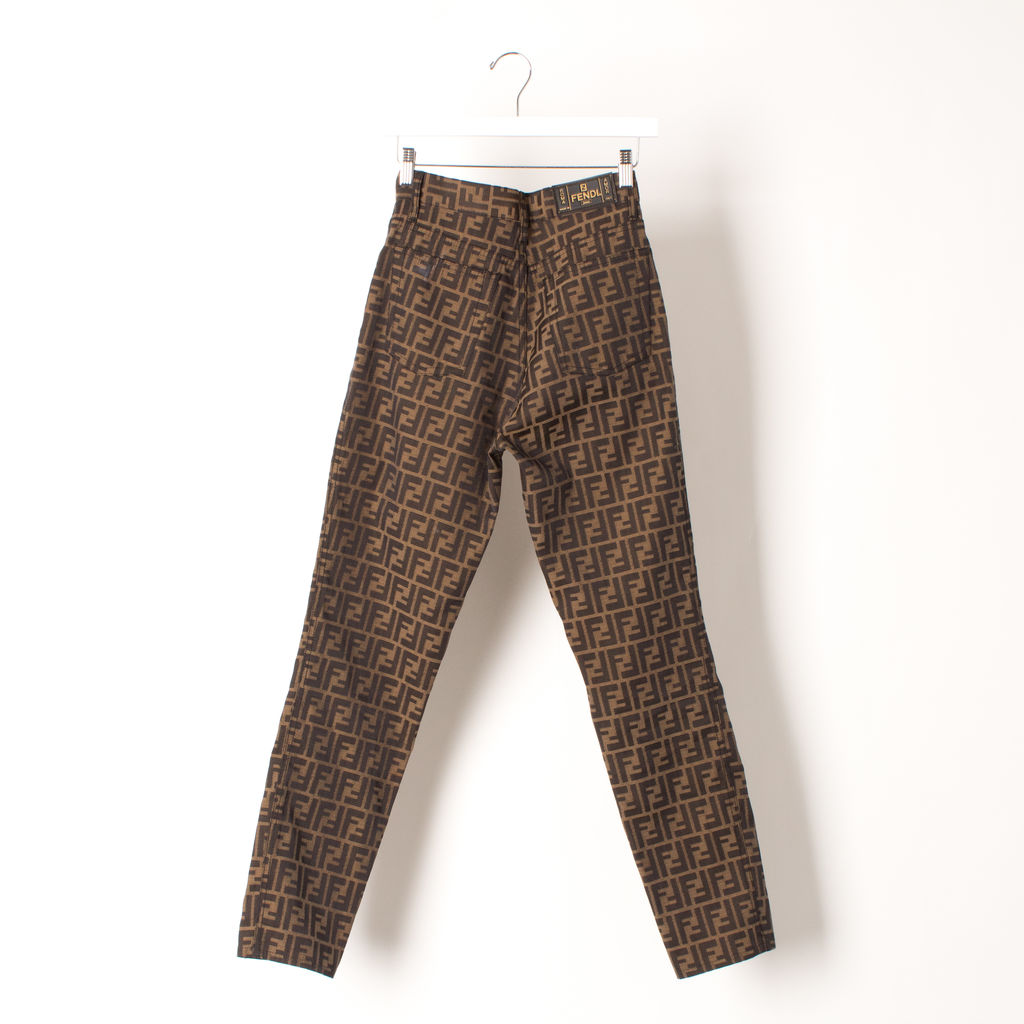 Vintage Original Fendi Logo Pants
