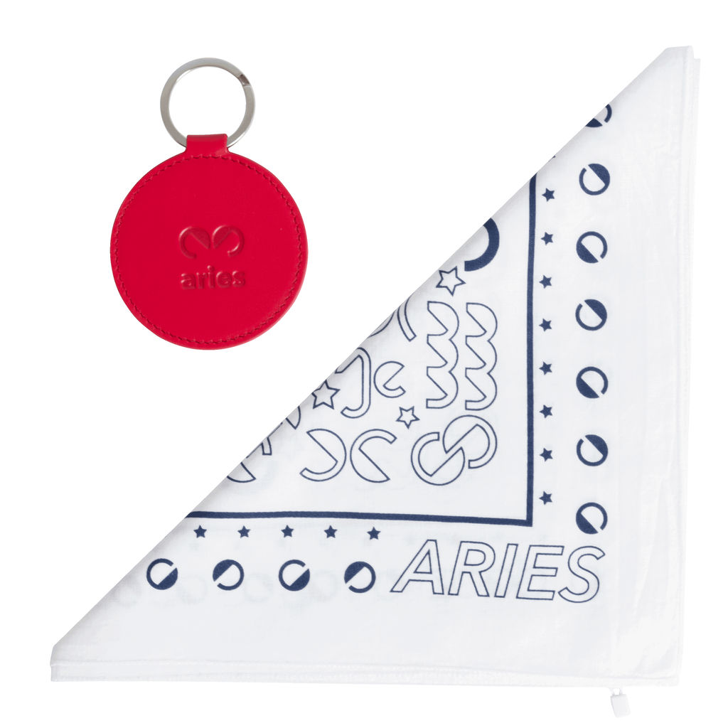 DOOZ Aries Bandana + Keychain Set in White