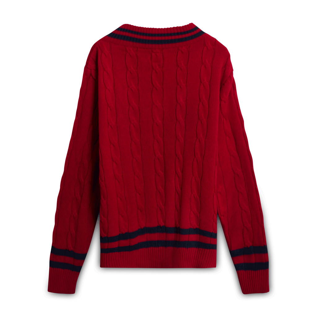 Lee Crochet Deep Cut Sweater
