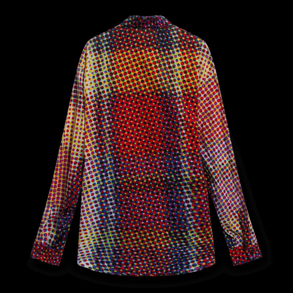 Moschino Op-Art Cyber Print Button Down