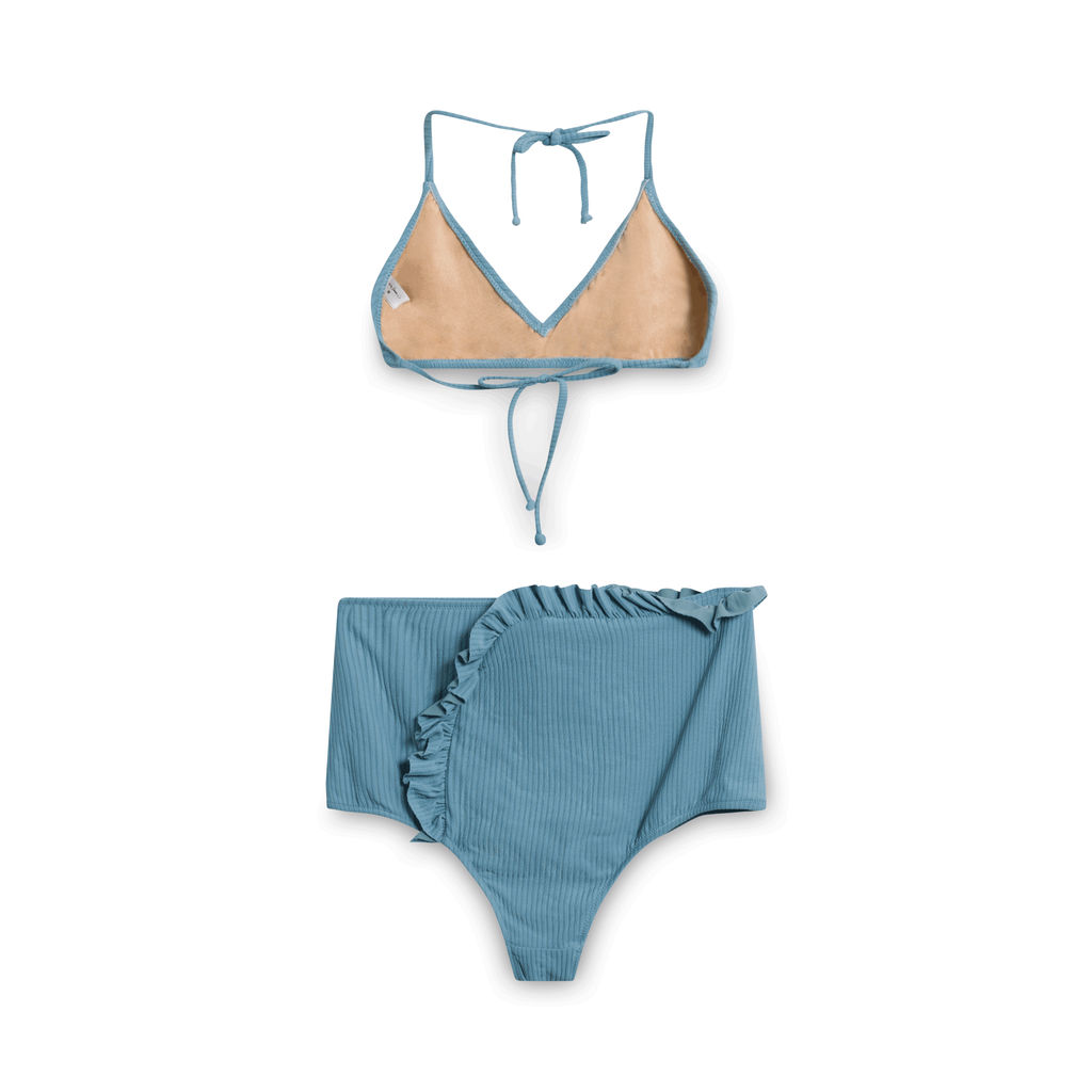 Made By Dawn Women's Blue Arrow Bikini Set