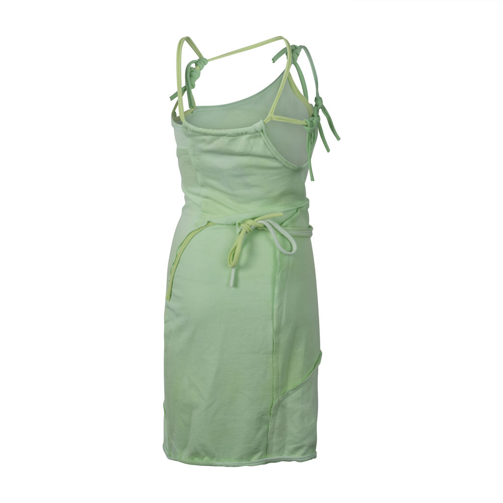 Ottolinger Asymmetric Strap Dress- Lime