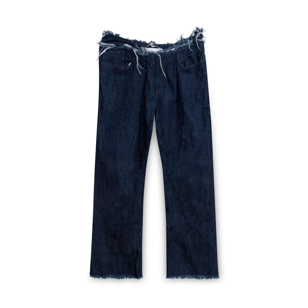 Marques Almeida Frayed Denim Jeans - Blue