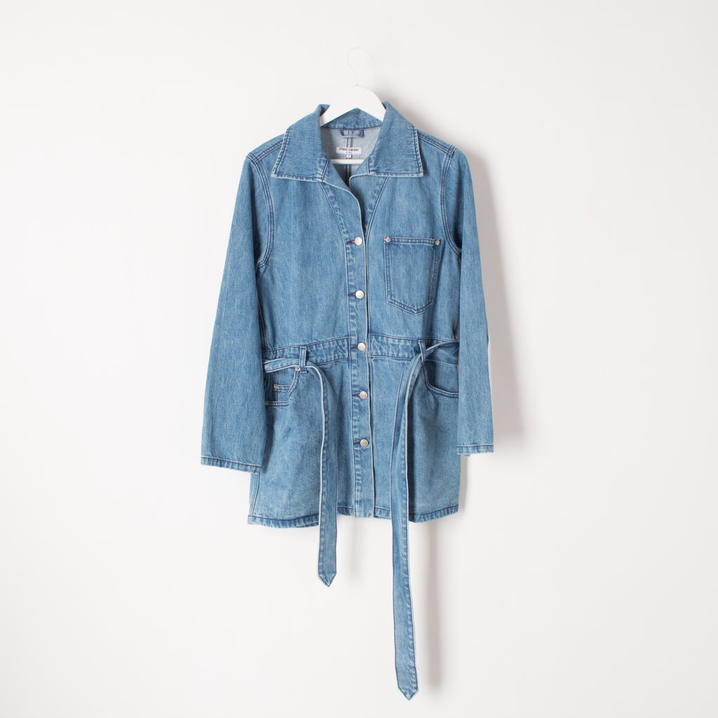 Opening Ceremony Belted Denim Utility Dress