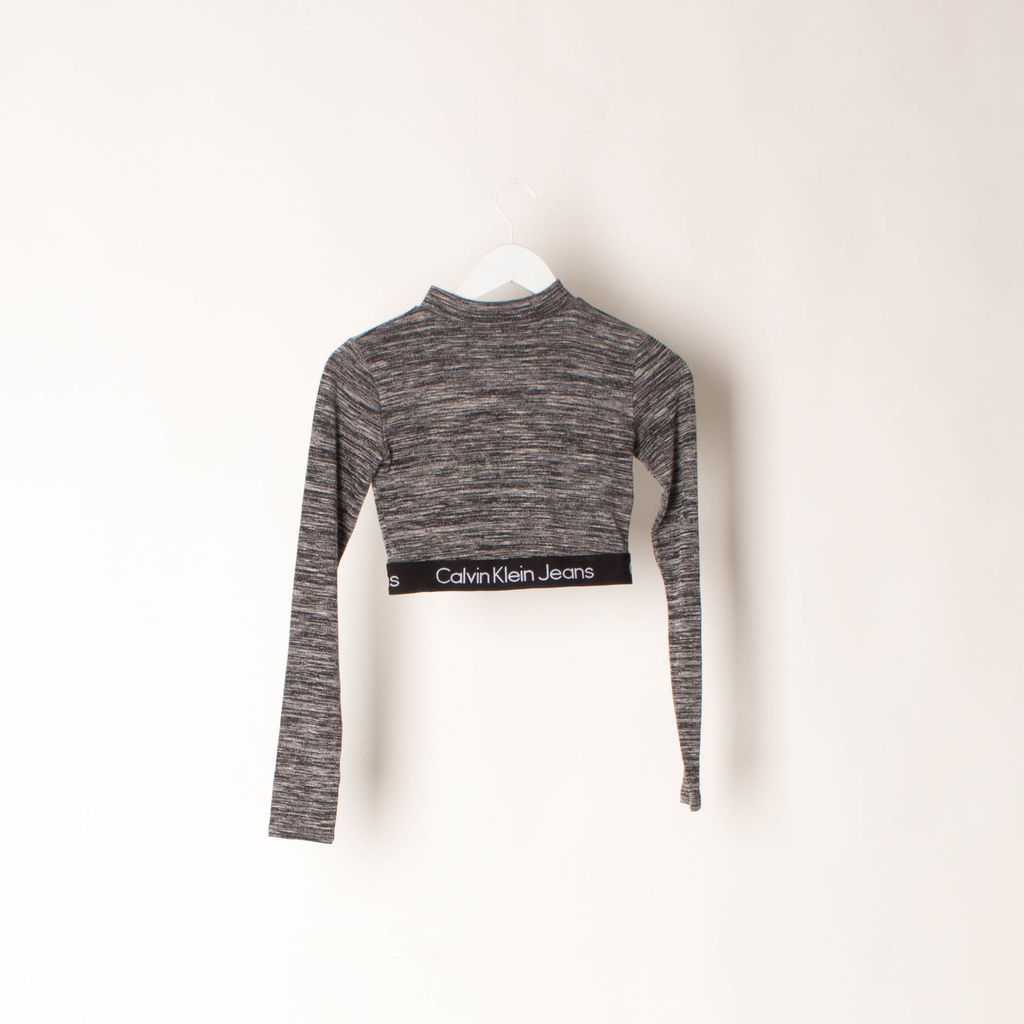 reasonably priced superior quality 100% genuine Calvin Klein Jeans Knit Crop Top by Becca Hiller