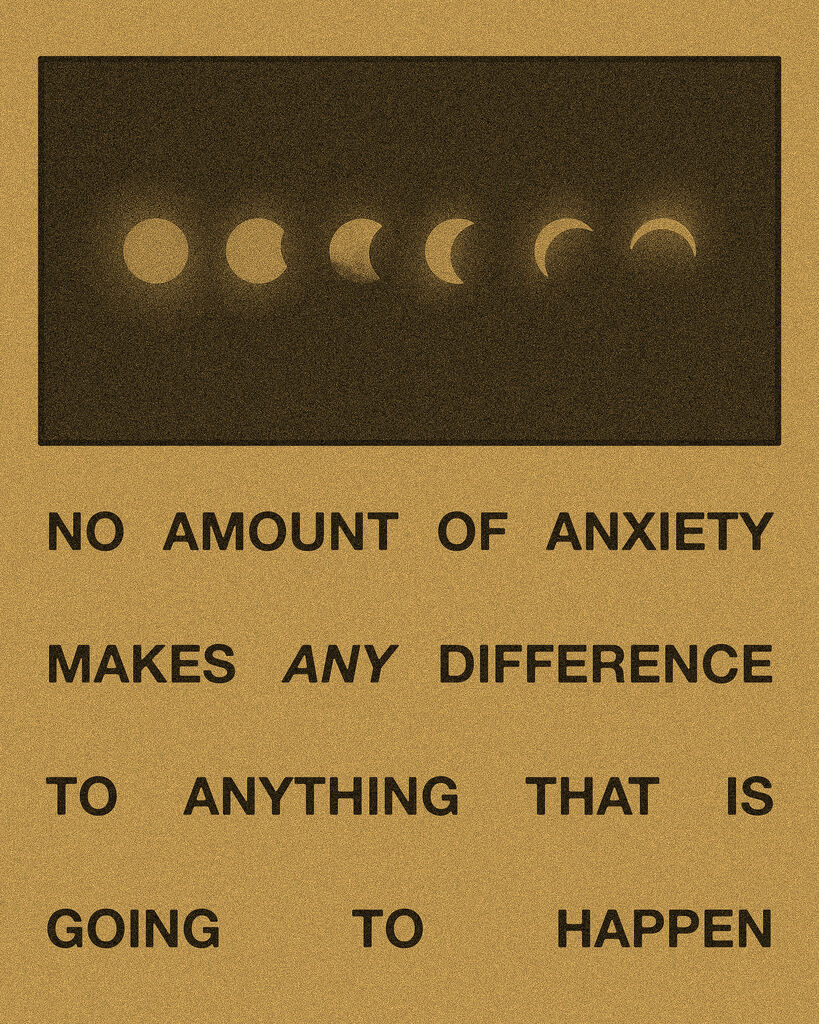 NO AMOUNT OF ANXIETY- Moons Yellow