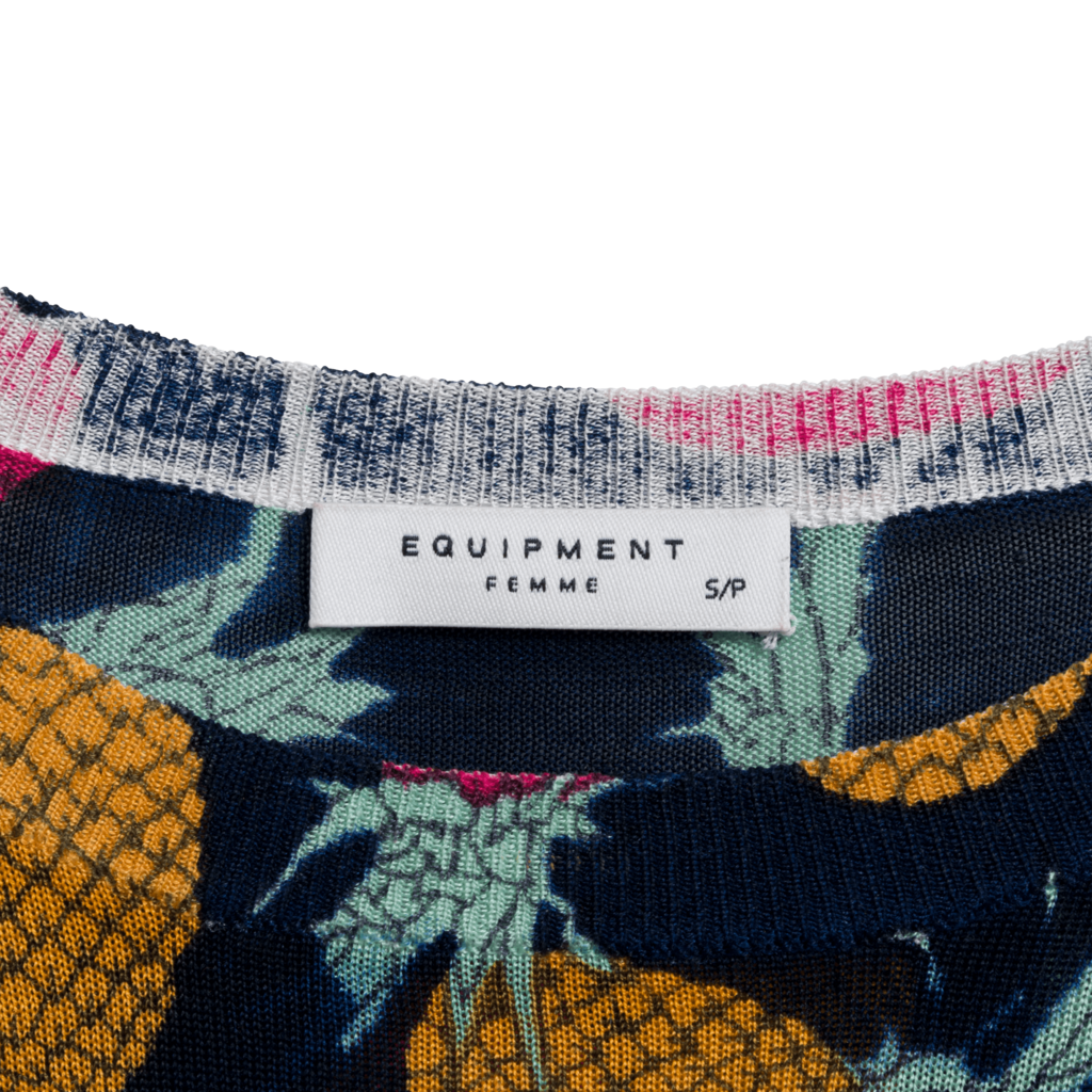 Equipment Pineapple Knit Long Sleeve