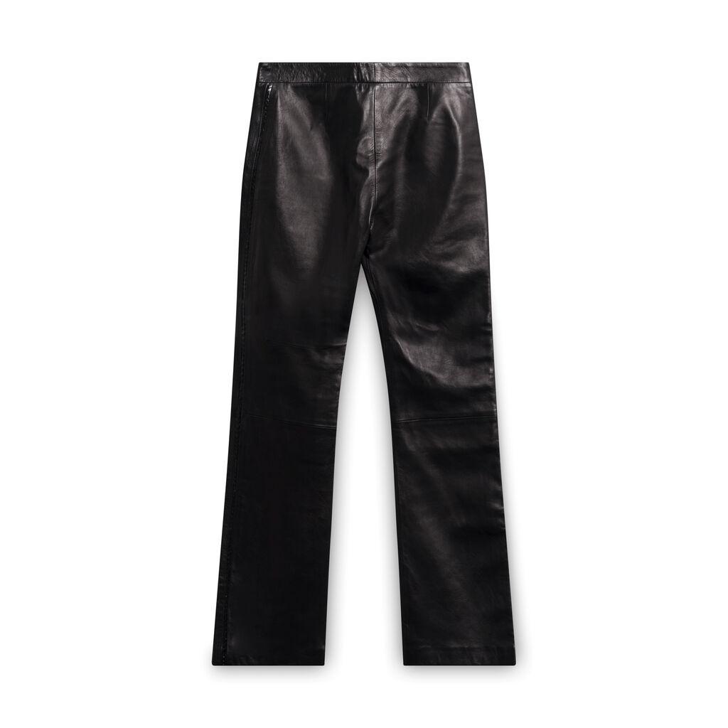 Versace Vintage Wide Leg Leather Pants