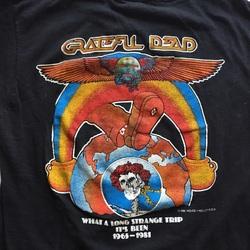 "RaRe 1981 GRATEFUL DEAD ""Strange Trip"" Vintage Tour Concert Band Shirt  curated by Scott Hopkins"