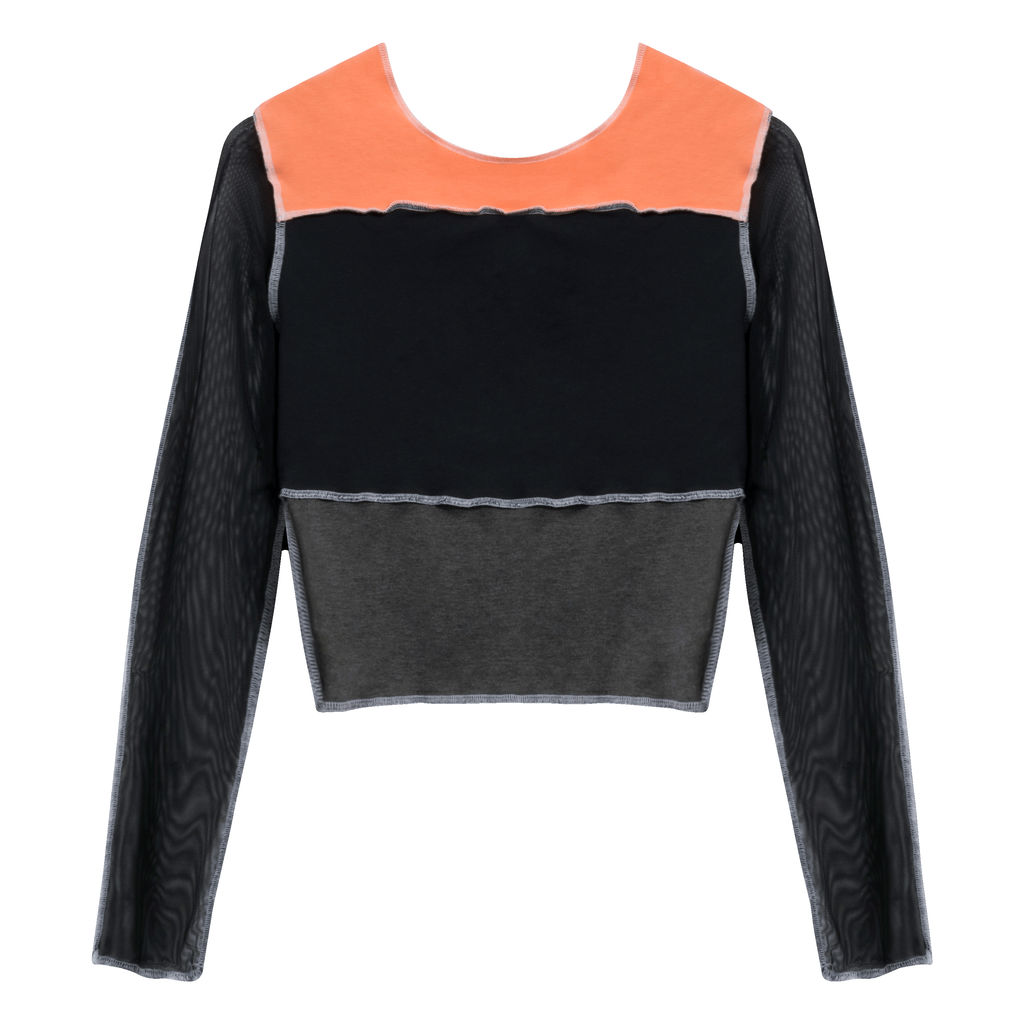 JJVintage Reworked NikeSB Long Sleeve in Black/Orange/Grey