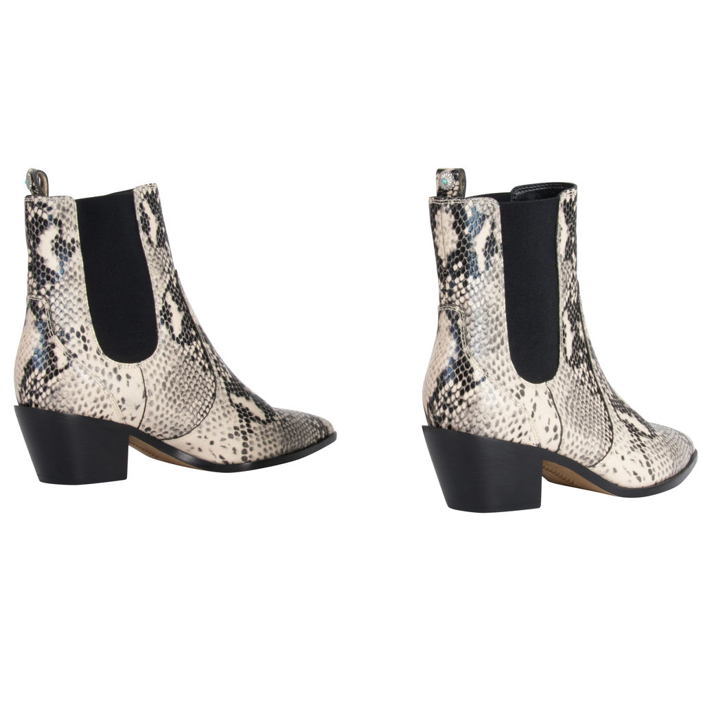 PAIGE Willa Snakeskin Boots