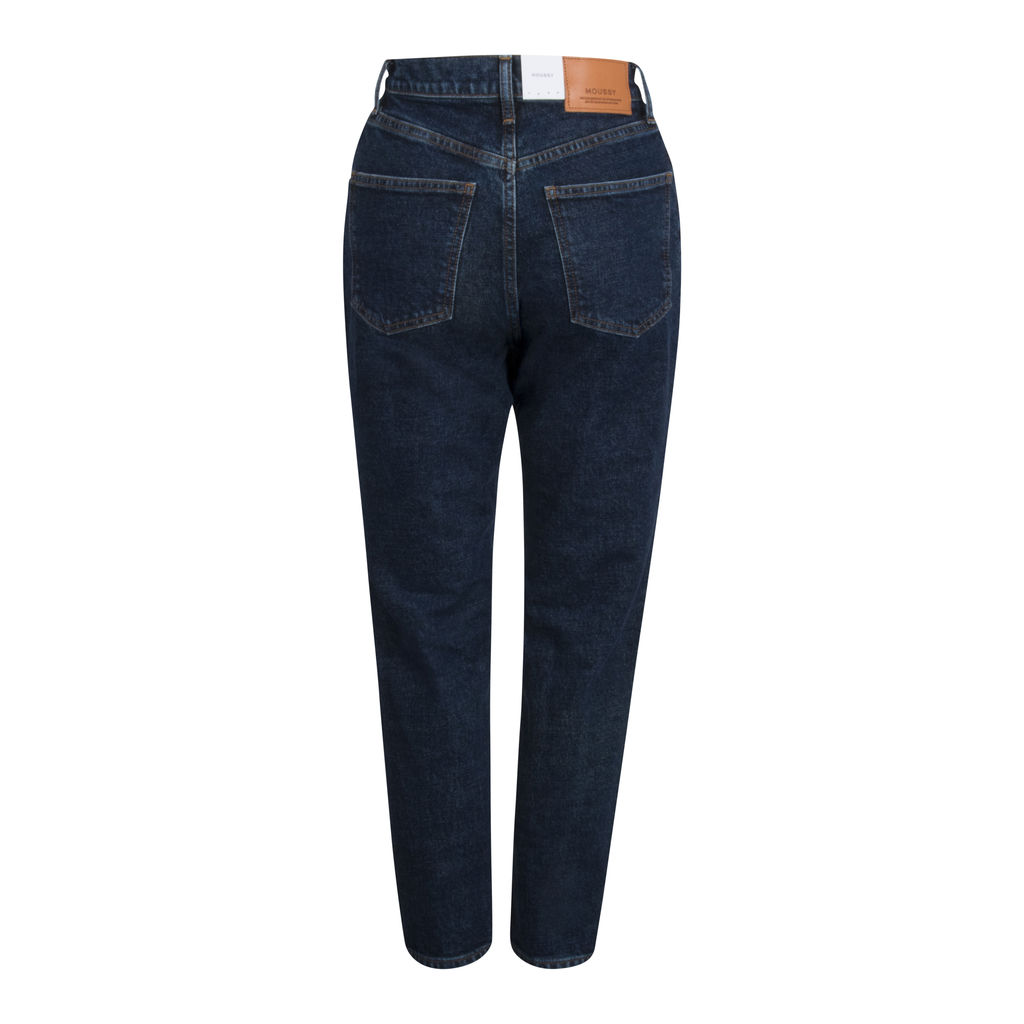 Moussy High Rise Dark Wash Denim Jeans