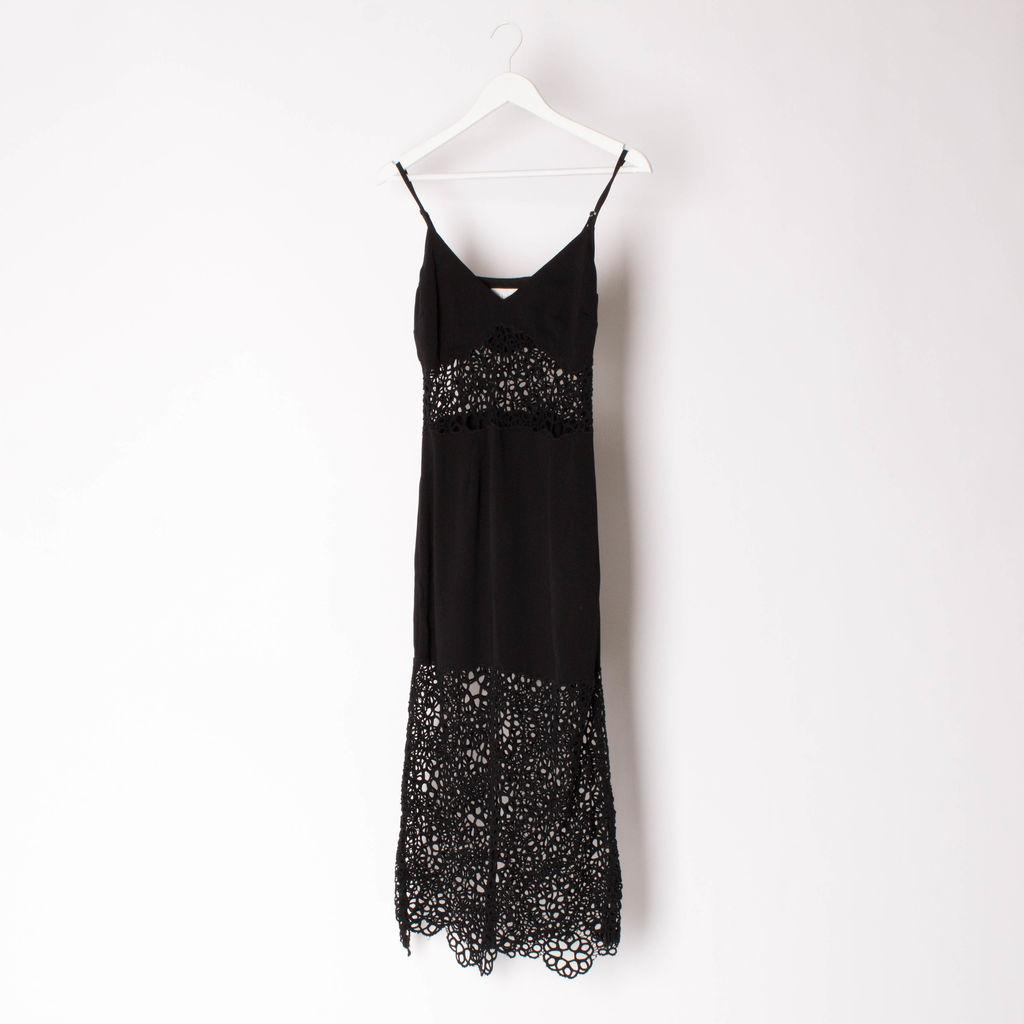 Shakuhachi Black Perforated Detail Dress