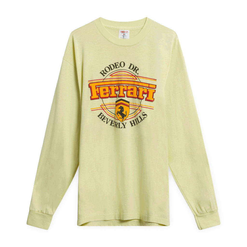 Yellow Ferrari Rodeo Drive Long Sleeve