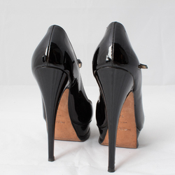 Saint Laurent Patent Leather Mary Jane Platform Pumps curated by Sophia Amoruso